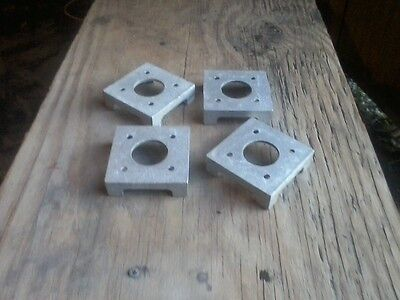 Post Base, for 4x4 Post and column, Pack of 4, MADE IN USA