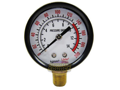 Rolair 200 Psi Air Compressor Gauge Ga0250200gc Side Mount Replacement 14