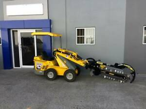Ozziquip Puma Mini Skidsteer Loader with Trenchers