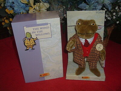 STEIFF  Toad, Wind In The Willows, #037016, NEW, Mint NRFShipper