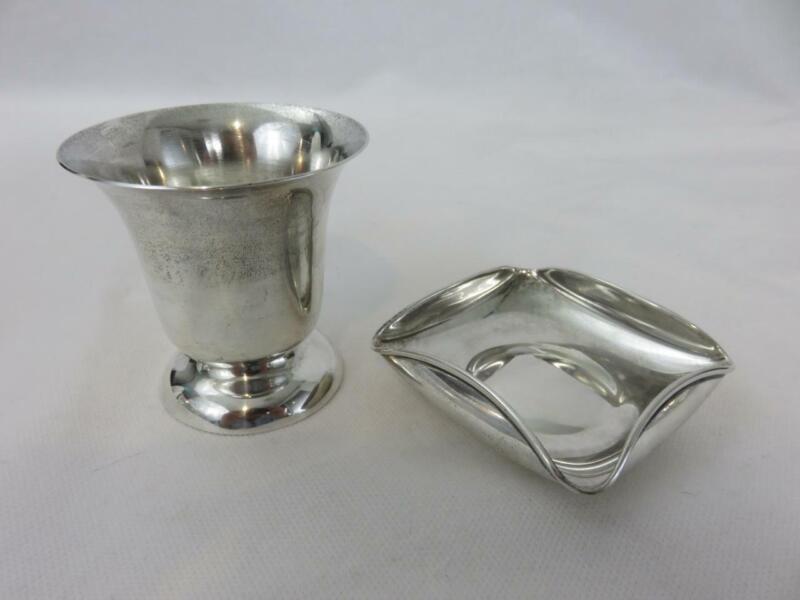 Famsa Sterling Silver Smoking Set Cigarette Urn & Ash Tray Mexico 117.6 grams