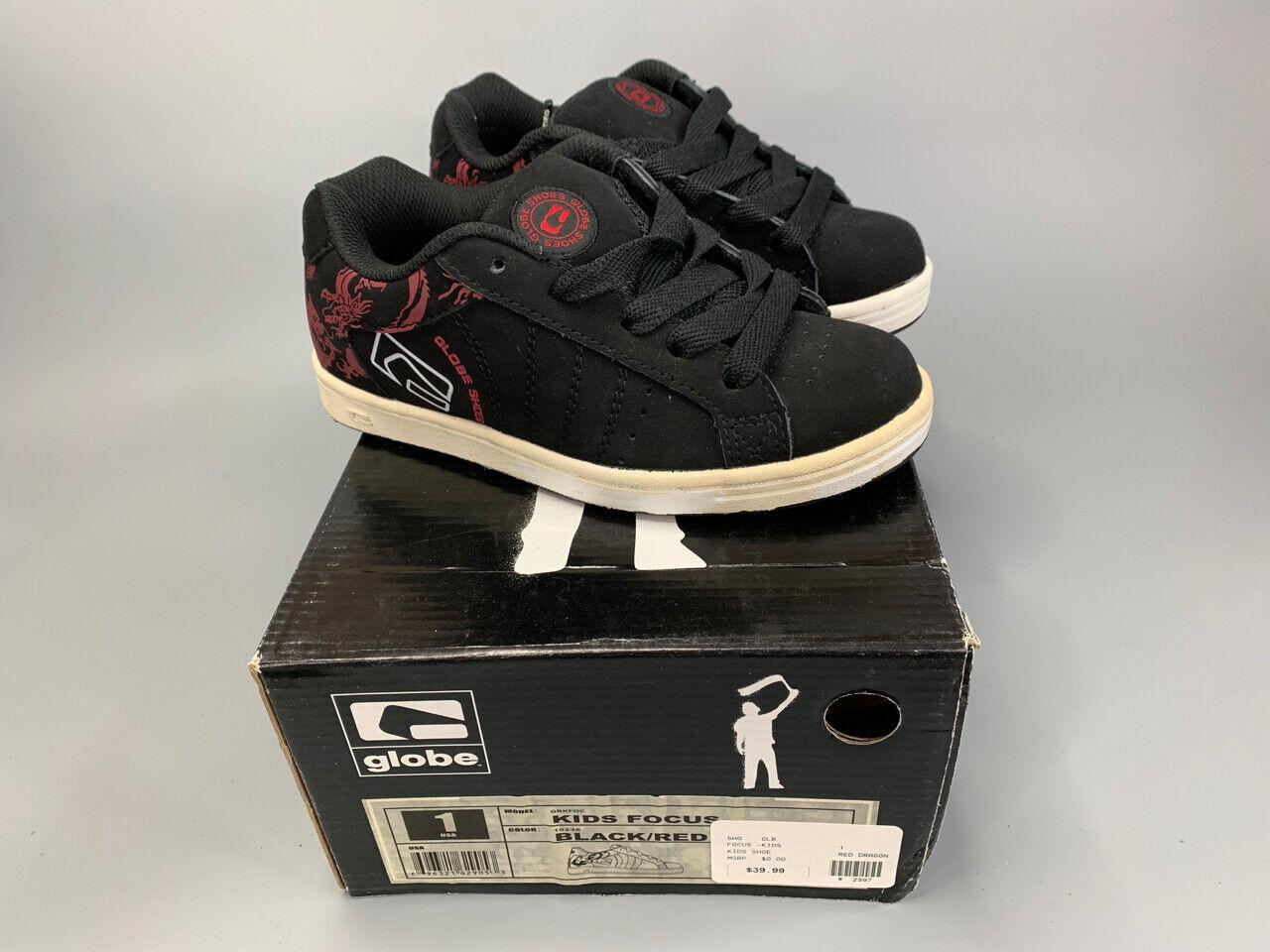 NEW GLOBE FOCUS KIDS Skateboard Skate Shoes Youth Size 1.0 N