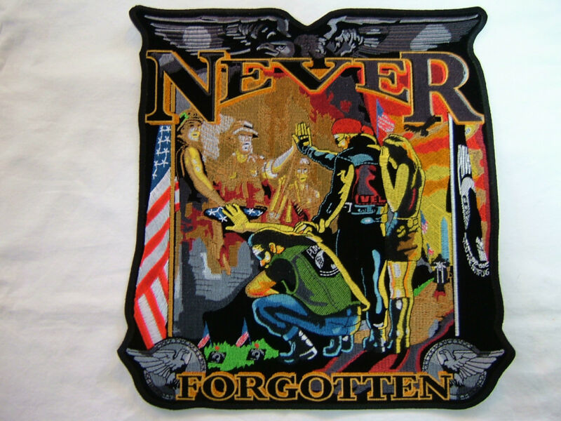 """Patch """"POW/MIA - THE WALL - NEVER FORGET"""" Monster patch, emblem, 14"""",  PPA1869"""