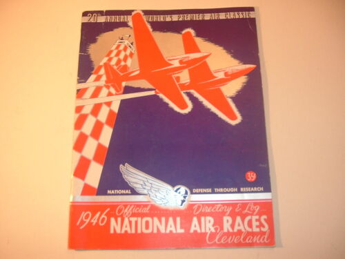 RARE 1946 National Air Races Cleveland Ohio Program