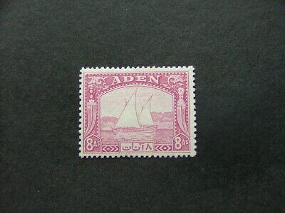 Aden 1937 8a pale purple SG8 MM