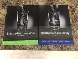 Two brand new intermediate accounting textbooks