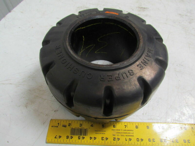 "Maine Super Cushioner 10-1/2""X6""X5"" Press On Traction Solid Forklift Tire Wheel"