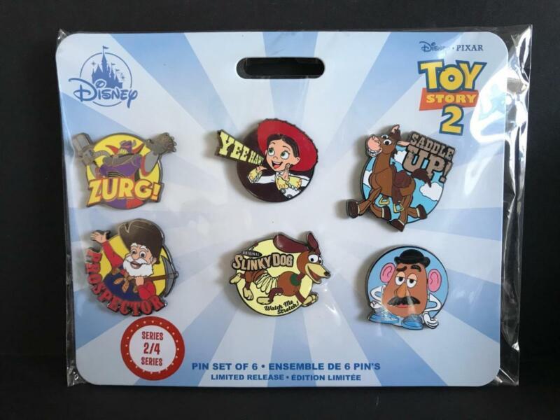 Disney Toy Story Zurg Jessie Bullseye Limited Release 6 Pack Pin Set Series 2/4