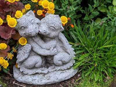 Super Cute Little Dragon Couple - Fantastic Detail Stone-cast Statue 8kg by DGS