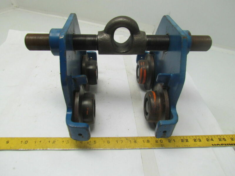 """TRACTEL V5019 Fall Protection Anchor Beam Trolley 2.3 to 8.7"""" Width 310lbMax"""