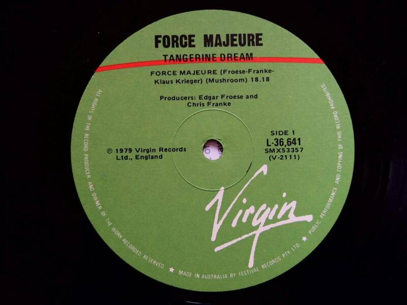 Tangerine Dream – Force Majeure Vinyl LP | Other Books