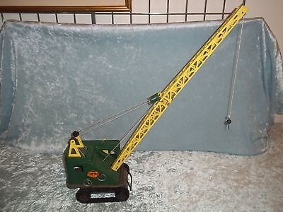 "Louis Marx Pressed Steel Caterpillar Crane - 31"" tall"