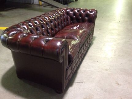 Traditional English Chesterfield Suite & Club Chairs Bowen Hills Brisbane North East Preview