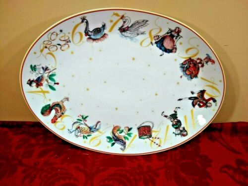 Williams Sonoma 12 Days of Christmas Oval Porcelain Platter NEW