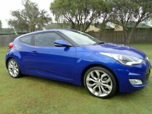 2013 Hyundai Veloster FS2 + Coupe D-CT Blue 6 Speed Sports Automatic Dual Clutch Hatchback Kippa-ring Redcliffe Area Preview
