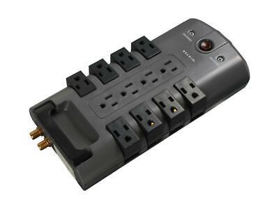BELKIN BP112230-08 8 Feet 12 Outlets 4320 Joules Pivot-Plug Surge Protector (12 Outlet Pivot Plug)