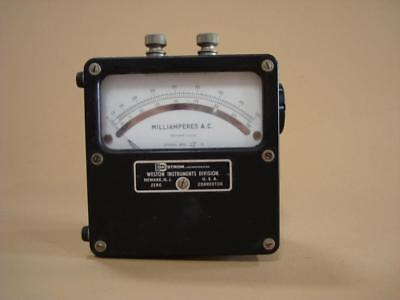 Vintage Weston Milliamperes Ac Meter Model 433 25 To 500 Cycles - Works