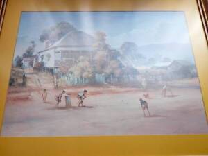 D'arcy Doyle framed art print - The Cricket Match Long Forest Moorabool Area Preview