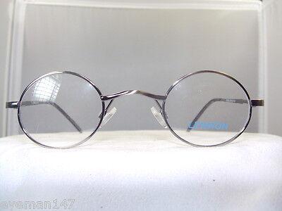 Lennon, Small Round Antique Silver- Eyeglass Frame