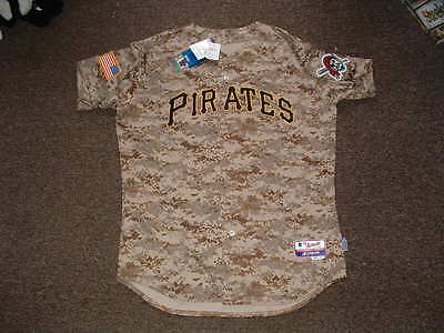 PITTSBURGH PIRATES 2015 CAMOUFLAGE ALTERNATE AUTHENTIC BASEBALL JERSEY sz 48 NWT