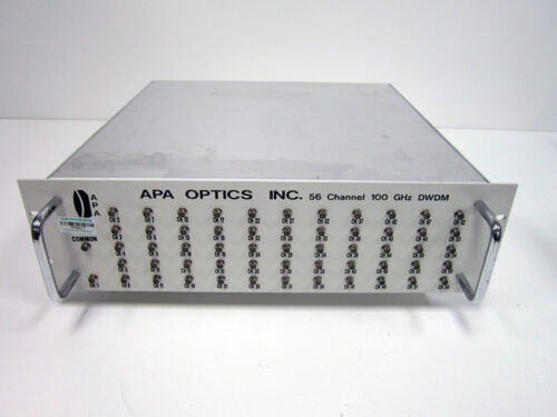 APA OPTICS 100 GHZ 56 CHANNEL FIBER OPTIC DWDM SYSTEM MULTIPLEXER MUX