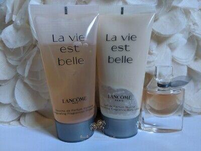 Lancome La Vie Est Belle Eau De Parfum+Body Lotion+Shower Gel Set New Sealed