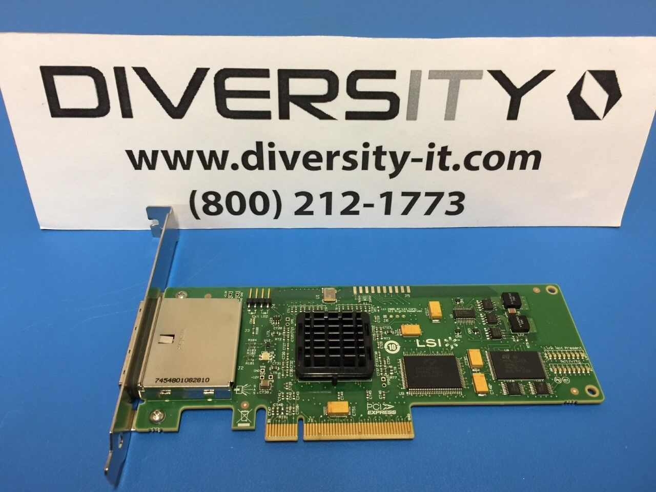 LSI SAS 3801E L3-01123-04E 3Gb/s Dual Port SAS SATA PCI-E Host Bus Adapter