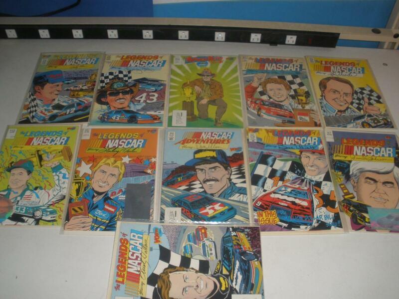 Lot of 11 Vortex Legends of NASCAR Comics Petty Elliot Allison Many others Lot 3