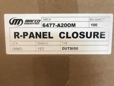Closure Strip Foam For R-panel U-panel Osis Metal Roofing 100 Stripsbox