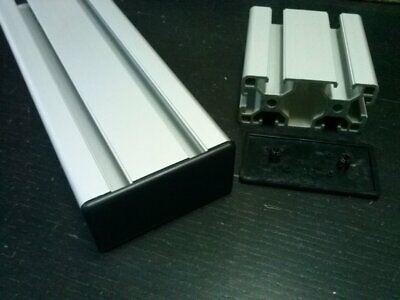 Aluminum T-slot Profile End Cap Plastic Black 40x80mm 8 Pieces Set