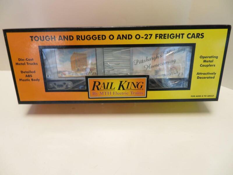 Rail King MTH O Scale Pittsburgh Holiday Homecoming Box Car NEW (a)