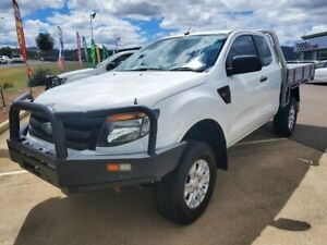 2012 Ford Ranger PX XL White 6 Speed Manual Cab Chassis Taminda Tamworth City Preview