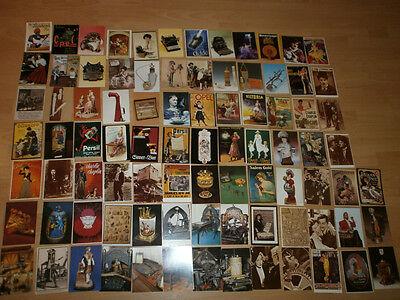 Konvolut 87 nostalgische Postkarten alte Reklame Werbung Persil Opel Pelikan usw