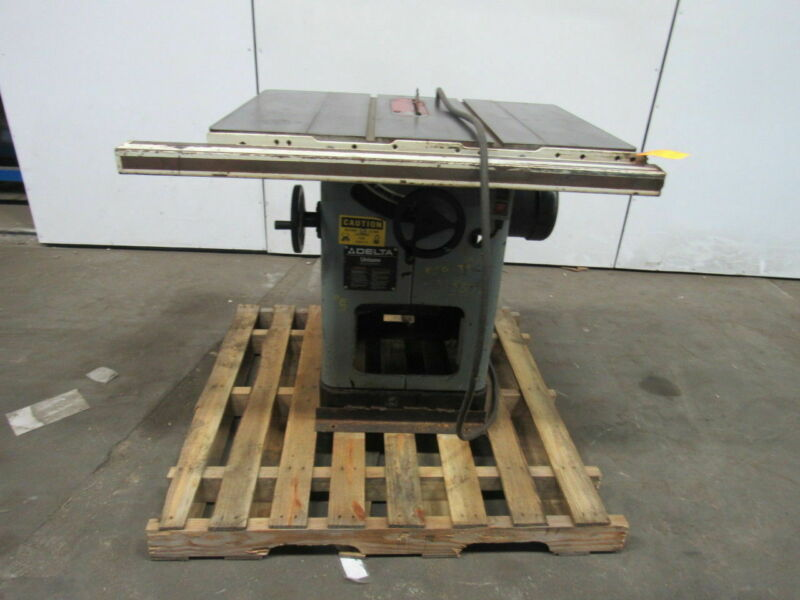 "Delta UNISAW 5HP 10"" Table Saw  230/460V 3 Ph"