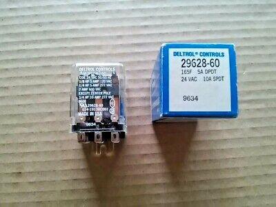 RELAY 3PDT 9 lug 10 amp 24v coil Flange mount Deltrol 29628-60