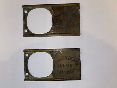 ANTIQUE SCHOOL DESK BRASS  INKWELL COVER 2 number