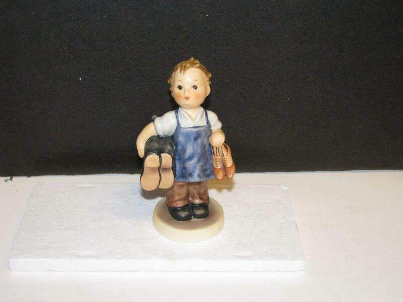 vintage Hummel figurine, #143/0, TMK-6 Boots, girl in dress carrying boot/shoes