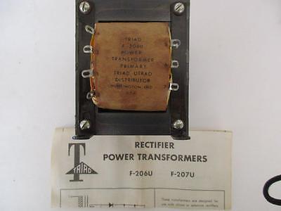 Triad Rectifier Power Transformer F-206u Sec 12.1 To 29.2 Vac 15 Or 8 Amps Dc