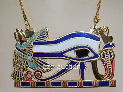 ANCIENT EGYPTIAN X - LARGE EYE OF HORUS PECTORAL - NECKLACE OCCASION GIFT - Egyptian Gifts
