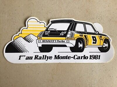 sticker autocollant RENAULT 5 R5 turbo MONTE-CARLO racing RALLYE 1981 RAGNOTTI