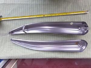 Columbia or Elgin bicycle tank prewar bare metal horn tank perfect mint