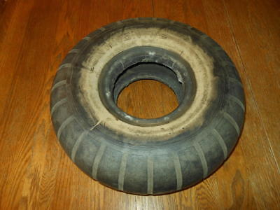 WW2 German Luftwaffe Aircraft Tail Wheel Tire - Me110 He111 Me263 - NICE! *