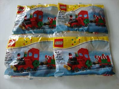 LEGO 40034 Christmas Holiday 2012 Train Polybag Pack x 4 - NEW & SEALED
