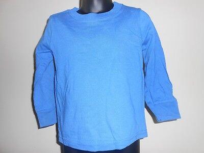 Neu Blau Adidas Kleinkind-Größe 2T Langärmeliges Hemd 21AP