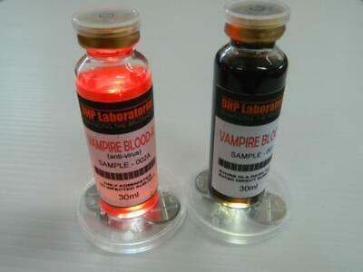 Vampire Blood and Anti Virus Combo Halloween Prop Cosplay Real Medical Vials