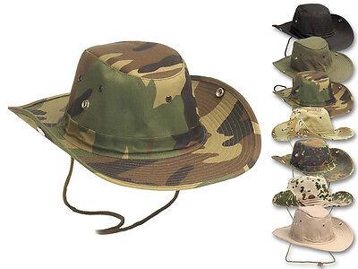 AB Rangerhut RipStop Tropenhut Buschhut Boonie Hat Hut Mütze S-XL (Ranger Hut)