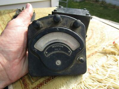 Weston Meter Vintage Volts Dc 0 To 2 Model 280 Vintage Size 4.5x4.5