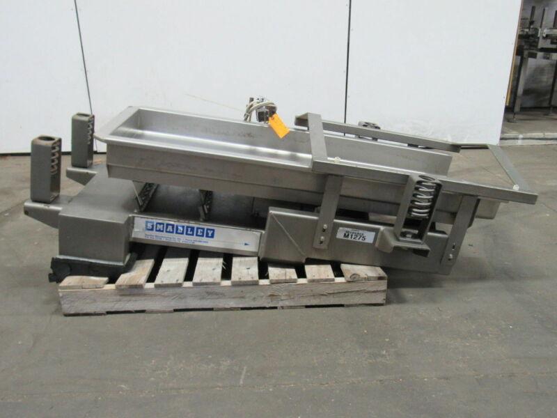 "Smalley Stainless Steel Vibrator Feeder Conveyor  18"" W x 49"" L x 4"" D 480V 1Ph"