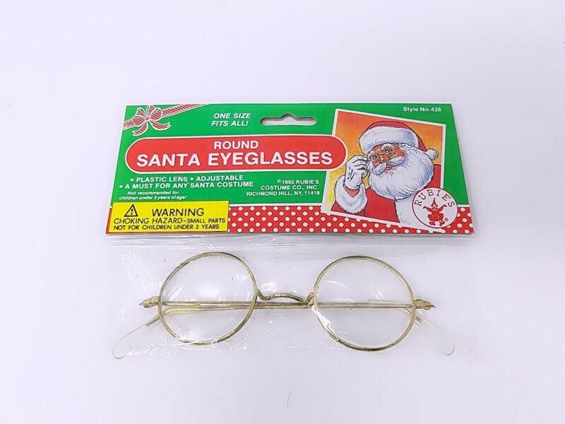 Round Santa Eyeglasses- Rubies 426 Novelty Item Only Please READ Description