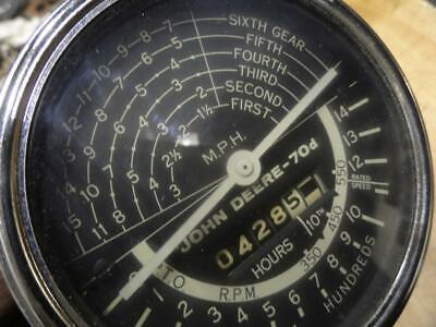 John Deere 70 Diesel Tachometer Speedhour Meter Nice Af2066r